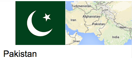 Pakistan, India map