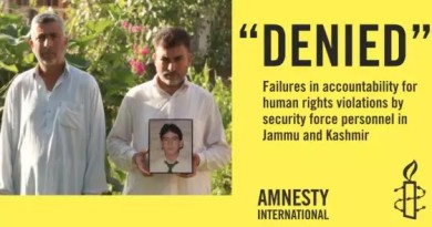 Amnesty International: Disappearances and missing persons in Kashmir