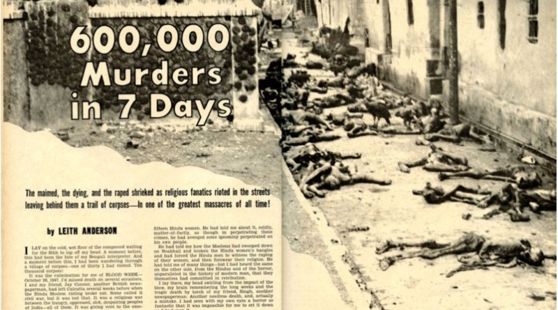 Jammu massacre 1947 under Maharaja Hari Singh rule