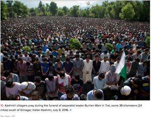 funeral of Burhan Wani