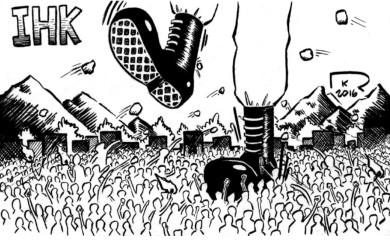 Dawn cartoon Kashmir