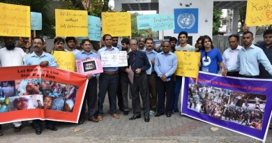 Sri Lanka Kashmir protest