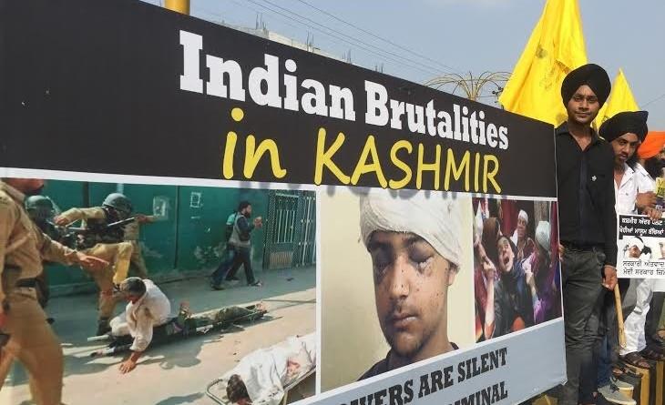 Dal Khalsa Kashmir protest