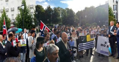 Oslo Norway Kashmir protest