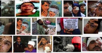 children injured in pellets in Kashmir