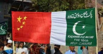 China Kashmir Pakistan flags