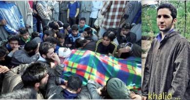 Funeral of Khalid Muzaffar Wani brother of Burhan Wani killing by Indian forces in a fake encounter