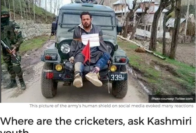 Indian Army ties with jeep a Kashmiri youth as human shield