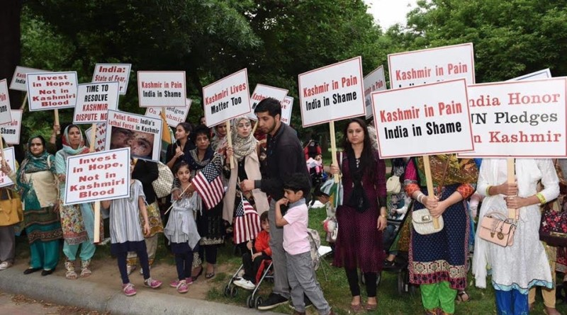 Kashmir candle light protest in USA