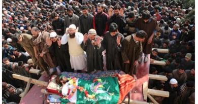 Tral / Pulwama / SouthKashmir: Funeral of Hizbul Mujahideen commander Sabzar Ahmed