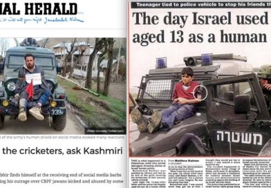Kashmiris hail Palestine's UN victory,  relieved by the Indian support to Palestine over Jerusalem!