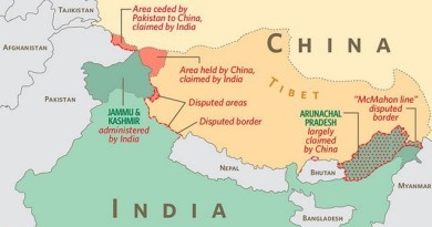 China India border disputes. Map by cofda