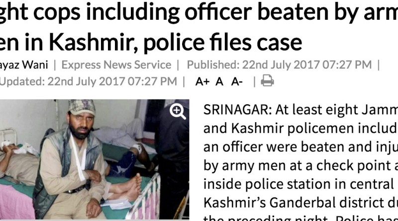 Indian Army thrashes Jammu Kashmir Police