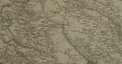 1863 Islamabad map including srinagar